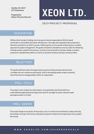 blue orange photo project general proposal templates by canva