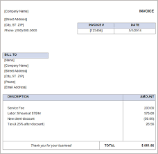free simple basic invoice template excel pdf word doc free easy