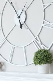 oversized clocks the perfect farmhouse chic oversized clock to hang above the