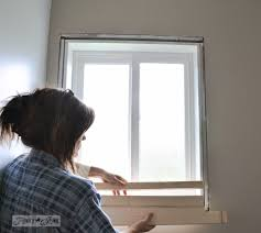 How To Replace A Window Sill Interior How To Make A Farmhouse Window With Mouldingfunky Junk Interiors