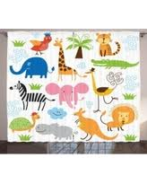 Elephant Curtains For Nursery Here U0027s A Great Deal On Animal Shower Curtain Cute Set Of Giraffe