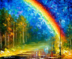 rainbow u2014 palette knife oil painting on canvas by leonid afremov