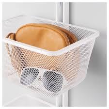 algot mesh basket with bracket white 30x22x15 cm ikea