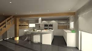 plan de cuisine avec ilot central stunning ilot central de cuisine blanc avec evier photos awesome