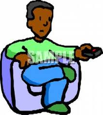 Clipart Armchair Man Sitting In An Armchair With A Remote Control Clipart Image