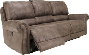 austere power reclining sofa couch recliner oberson gunsmoke reclining sofa with nail head