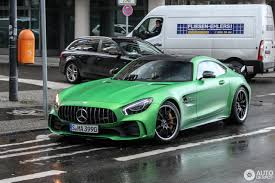 2017 mercedes amg gt r spotted flaunting its amg green hell magno