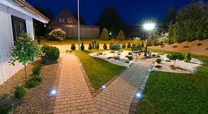 Led Pathway Landscape Lighting Path Lighting Led In Brick Accent Jpg 800 439 Outdoor Lighting