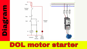 how to wire a contactor direct on line motor starter diagram