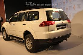 pajero sport mitsubishi mitsubishi pajero sport left rear three quarters indian autos blog