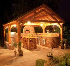 Outdoor Kitchen Lighting Ideas Decoration Outdoor Gazebos Lighting Fixtures Five Teak Wood Stool