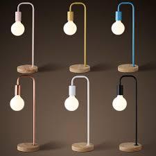 Desk Lamp Light Bulbs 2017 Modern Simple Table Lamp Creative Wood Base Table Lamp Desk
