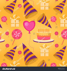 vector seamless pattern happy birthday background stock vector