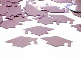 pink graduation cap pink graduation cap confetti metallic pink confetti