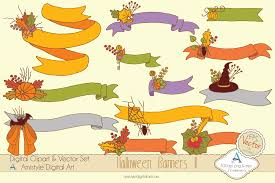 Halloween Graphic Design by Halloween Ribbon Sets Clipart U0026 Vector Set Amistyle Digital Art