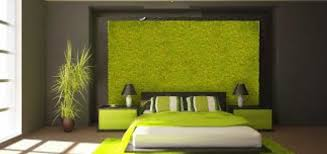 modern bedroom decorated with plants on the wall livinator