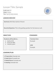 6 sample lesson plan template bookletemplate org 26 elipalteco