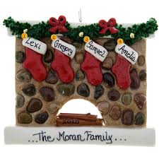 fireplace ornament with personalised