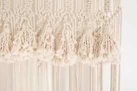 macrame curtain patina