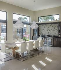 kitchen and dining room designs dining room design oversized window and beige curtain in