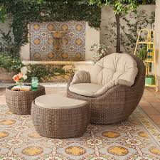 Small Patio Furniture Set by 3 Piece Small Space Outdoor Garden Furniture Set Patio Wicker