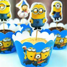 minions cake toppers 12pcs minions cupcake cases cake toppers bren s bargains