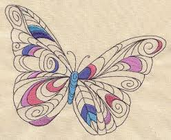 doodle butterfly threads unique and awesome embroidery