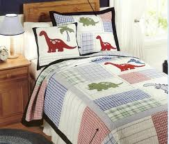 Quilted Cotton Coverlet European Style Cotton Quilt Kids Dinosaur Bed Cover Autumn