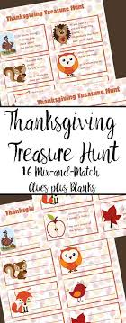 free printable thanksgiving treasure hunt for