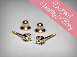 baby diamond earrings diamond earrings for baby diamond stud baby earrings 14k