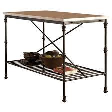marble top kitchen island zoe s furniture coaster faux marble top kitchen island in black