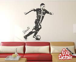 Wwe Wall Stickers Marco Verratti Wall Decal V1 Sticker Psg Italy Football Soccer