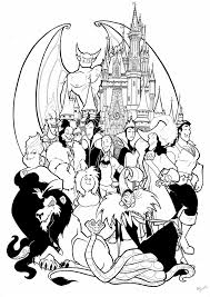 Disney Halloween Coloring Page by Disney Villain Coloring Pages Chuckbutt Com