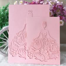 engagement greeting card 25pcs lot western style girl engagement dress invitation