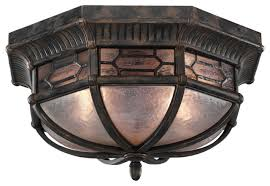 Outdoor Flush Mount Ceiling Light with Fine Art Lamps Devonshire Outdoor Flush Mount 414882st