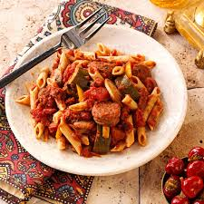 italian sausage marinara with penne recipe taste of home