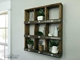 wall mounted cubby shelves rustic wood and metal wall cub shelf