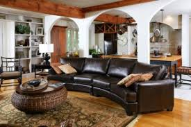 Decorating Ideas With Sectional Sofas Living Room Astonishing Curved Leather Sectional Sofa Decorating