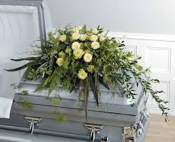 casket spray hulbert s flowers shades of green casket spray