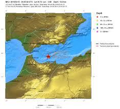 Earthquake Incident Map Earthquake Swarm Near The Coast Of Northern Morocco