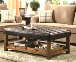 Large Tufted Leather Ottoman Tufted Leather Ottoman Coffee Table Tufted Ottoman Black Storage