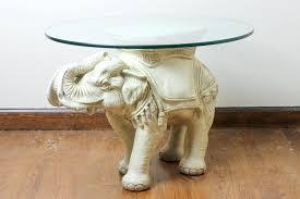 Elephant Side Table Elephant Coffee Table Glass Top Elephant Coffee Table High