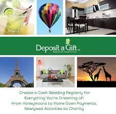 charity gift registry registry deposit a gift wedding weddings and wedding