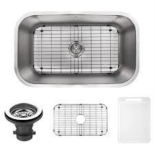 Vigo Kitchen Sink Shop Vigo 30 0 In X 18 0 In Premium Satin Single Basin Stainless
