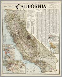 Railroad Map Official Railroad Map Of California 1926 David Rumsey