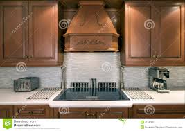 kitchen cabinets and cooktop stock photo image 41547901