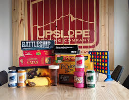 board game happy hour lee hill upslopebrewing