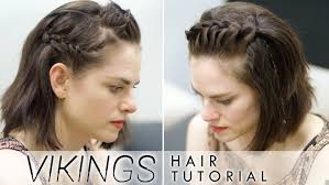 vikings hair tutorial for short hair featuring amy bailey youtube