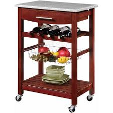 kitchen island cart with granite top linon kitchen island cart with granite top walmart com