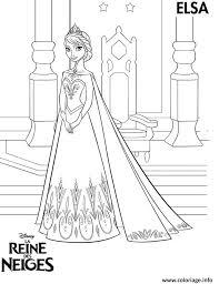 Coloriage Princesse Elsa Reine Des Neiges dessin